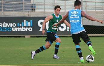 Giuliano treina com bola pela 1ª vez e se credencia para retornar ao Grêmio