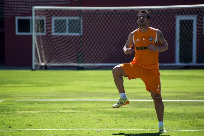 Fred treinando nas Laranjeiras (Foto: Bruno Haddad / Fluminense F.C.)