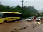 MA-201 fica completamente alagada durante chuvas em São Luís