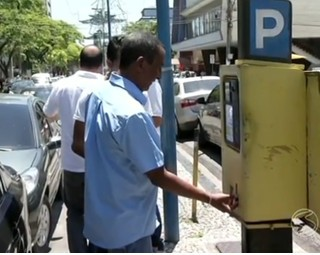 Volta Redonda e o desrespeito ao parquímetro (Foto: RJTV 2ª Edição)