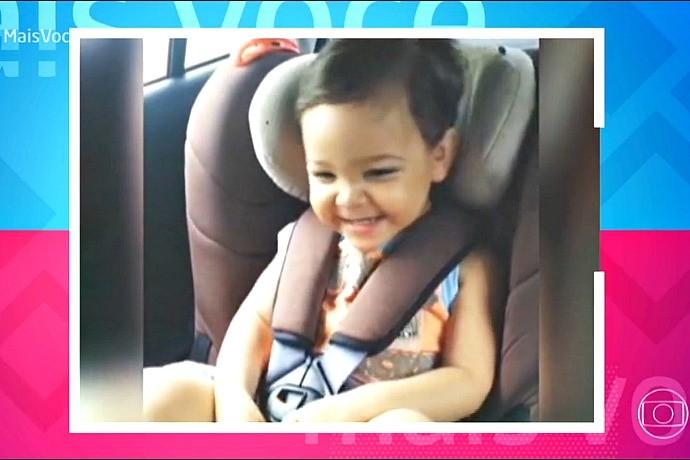 Leandro Rafael, de um ano e nove meses, apareceu no programa Mais Você na última sexta-feira (3) (Foto: Reprodução/Rede Globo)