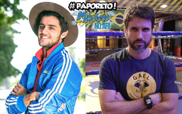 Felipe Simas e Eribetro Leão respondem aos fãs no #PapoReto (Foto: Raphael Dias/Isabella Pinheiro/Gshow)