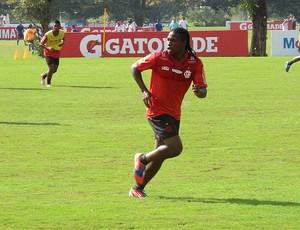 diego mauricio flamengo treino (Foto: Richard Souza / Globoesporte.com)