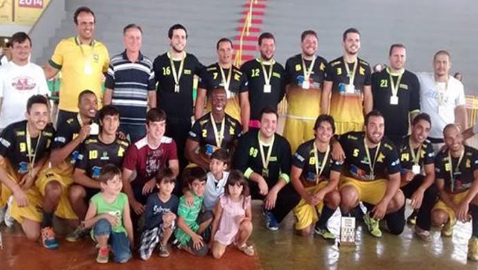 Handebol masculino Jogos de Minas Uberaba etapa estadual 2014 (Foto: Karel Avelar/ Arquivo Pessoal)