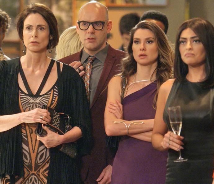 Convidados ficam chocados com atitude do rapaz (Foto: TV Globo)