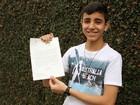 Papa Francisco responde carta de estudante de 15 anos de São José, SP