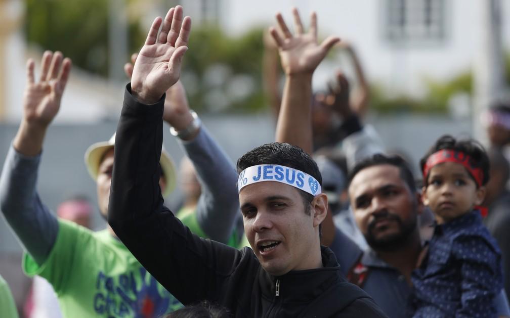 Marcha reúne multidão no Centro e Zona Norte de São Paulo (Foto: LEONARDO BENASSATTO/FRAMEPHOTO/ESTADÃO CONTEÚDO)