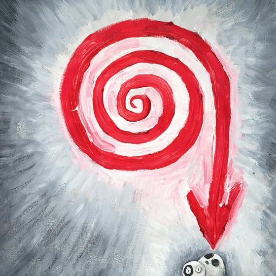 Quadro O último de seu tempo,de Tim Burton.O cineasta pinta,desenha,esculpe,escreve poesia e compõe (Foto: Tim Burton/Divulgação)