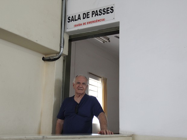 Leopoldo, diretor de comunicação do Centro Espírita Amor e Caridade (Foto: Isabela Ribeiro/ G1)