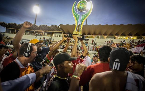 Sergipe comemora o título da Copa Governo do Estado (Foto: Filippe Araújo / FSF)