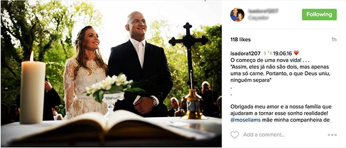 BLOG: Junior Cigano se casou há uma semana em cerimônia restrita
