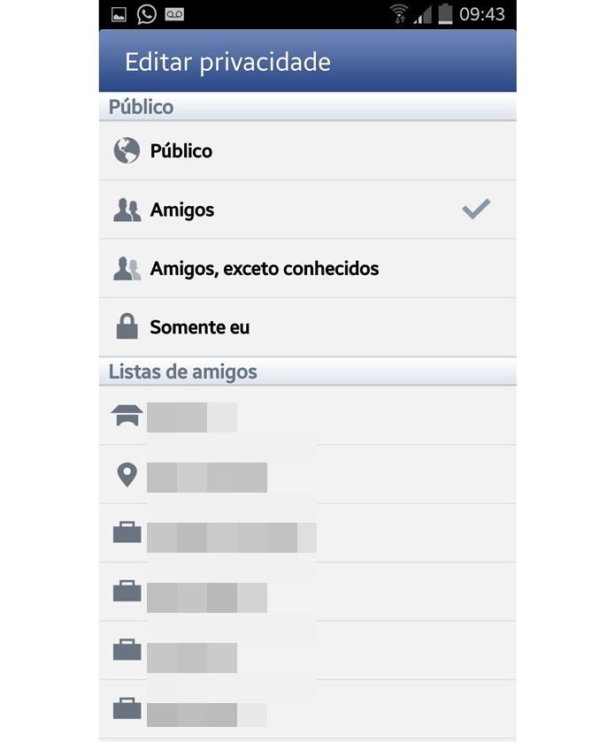 Editar no celular a privacidade das fotos do Instagram no Facebook (Foto: Reprodução/Carolina Ribeiro)