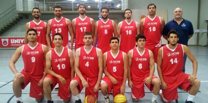 Equipe UCDB/Dom Bosco de basquete na Copa Centro-Oeste (Foto: Divulgação/CBB)