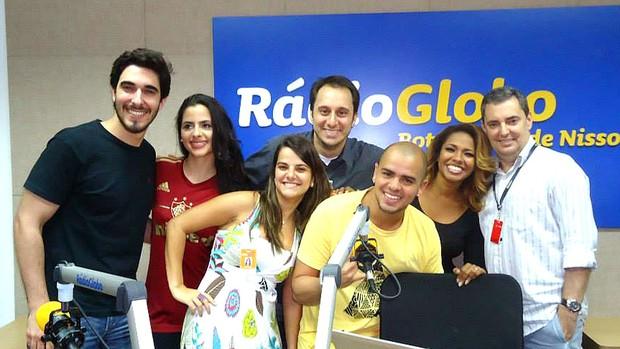 The voice rádio globo programa (Foto: Thiago Fernandes )