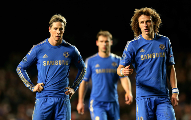 Fernando Torres David Luiz Chelsea (Foto  Getty Images) 10316b43787e7