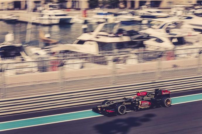 Romain Grosjean no treino livre para o GP de Abu Dhabi (Foto: Divulgação)