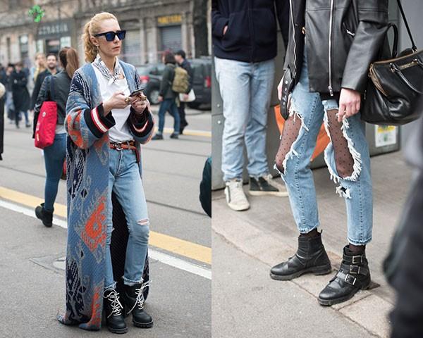Jeans rasgados nas ruas (Foto: Joanna Totolici)
