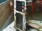 Homem incendeia urna eletrônica (Divulgação/Polícia Militar)