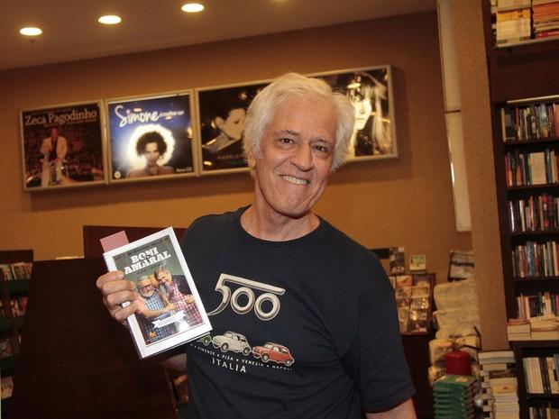 Nuno Leal Maia em lançamento de livro no Rio (Foto: Isac Luz/ EGO)
