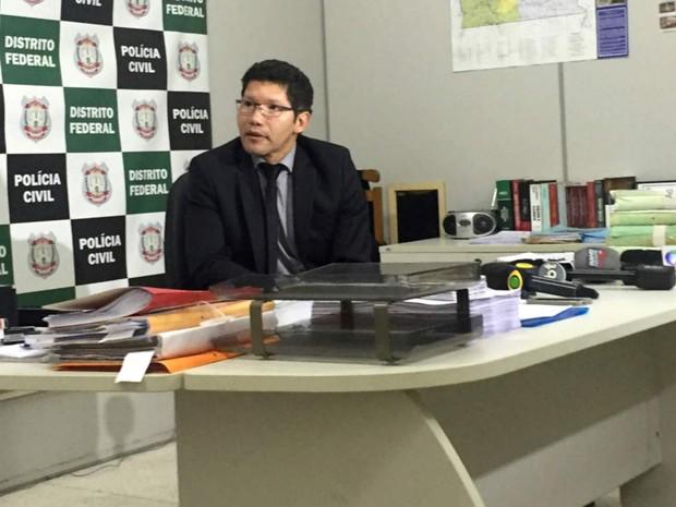 Chefe da Delegacia de Repressão a Crimes Contra a Administração Pública (Decap) do DF, Alexandre Linhares (Foto: Gabriel Luiz/G1)