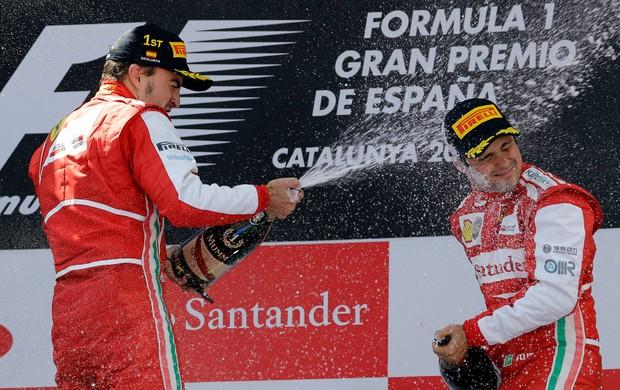 fernando alonso podio formula 1 gp espanha (Foto: AP)