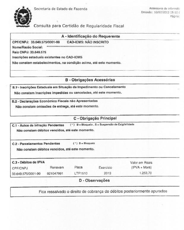 flamengo documentos (Foto: Reprodução)