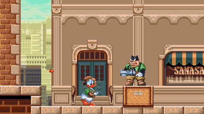 Pato Donald ganhou uma arma e pinta de caçador em Quackshot (Foto: Game Fabrique)