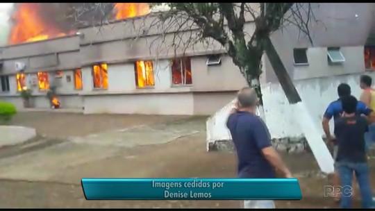 Único hospital de Realeza, no sudoeste, é destruído por incêndio