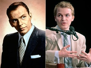 Frank Sinatra e Ronan, filho de Mia Farrow (Foto: AFP e AP)
