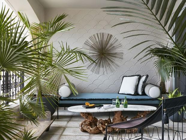 Apartamento mistura art déco à aura tropical em Miami  (Foto: Brantley Photo/ Divulgação)