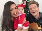Thais Fersoza e Michel Teló comemoram 1º Natal da filha, Melinda
