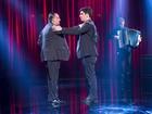 'Adnight': Marcelo Adnet dança tango com Galvão Bueno na estreia