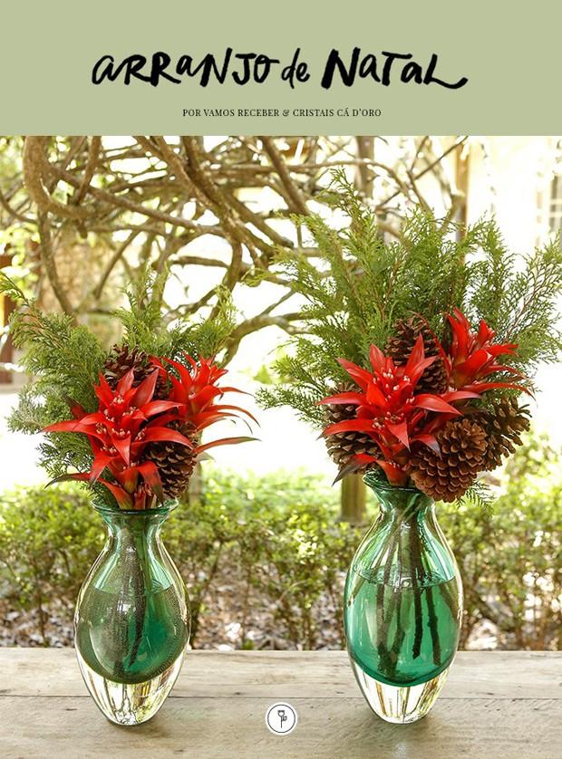 Arranjos tropicais para o Natal (Foto: fotos Julio Acevedo; arte Karen Hofstetter)