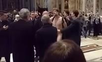 'Protestei para pedir ajuda', diz brasileiro detido nu no Vaticano (Reprodução/Youtube/Alvaro Torrico)