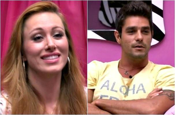 Aline Moraes e Diego do BBB 14 (Foto: Montagem sobre fotos/Reprodução/RBS TV)