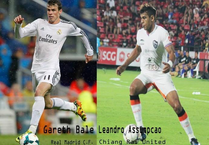 Leandro Assumpção comparação gareth bale (Foto: Reprodução facebook)