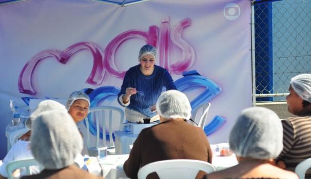 RPC TV na Praça com Mais Você em Araucária (Foto: Anelisa Brito/RPC TV)