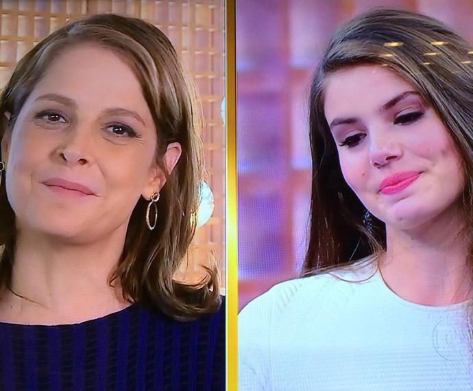 Drica Moraes também deixou a atriz emocionada (Foto: TV Globo)