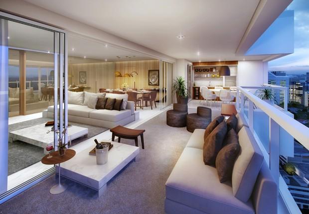 Croquis de apartamento à venda na zona sul de São Paulo ; imóveis ; habitação ;  (Foto: Reprodução/Facebook)