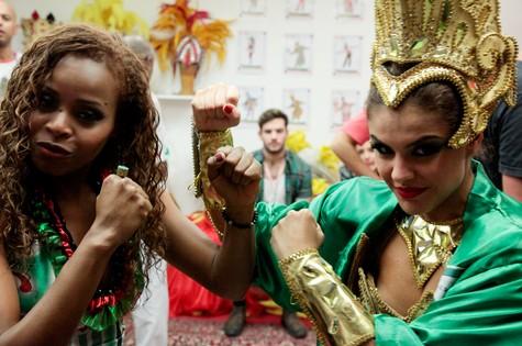 Roberta Rodrigues e Paloma Bernardi (Foto: André Henrique)