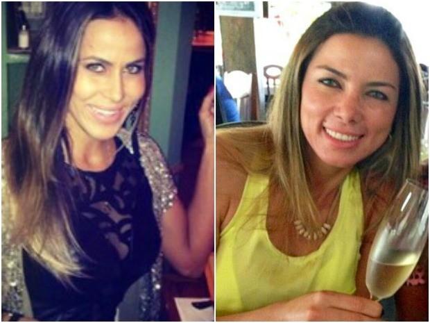 Marcelaine (direita) é suspeita de encomendar morte de Denise (esquerda) (Foto: Arquivo Pessoal)