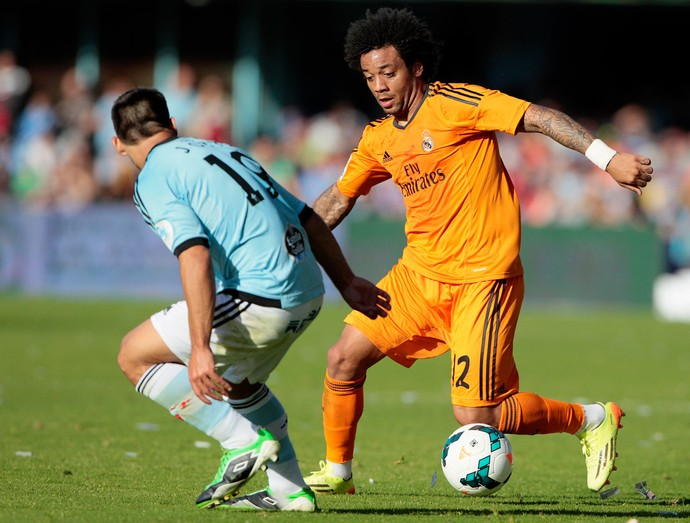 marcelo real madrid x celta (Foto: AP)