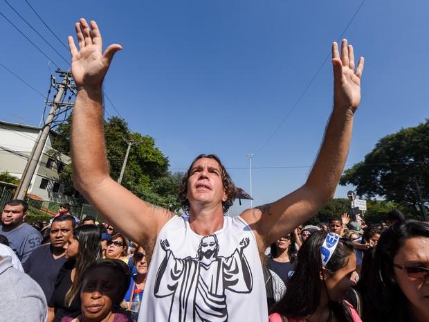 Marcha para Jesus em São Paulo (Foto: Flavio Moraes/G1)