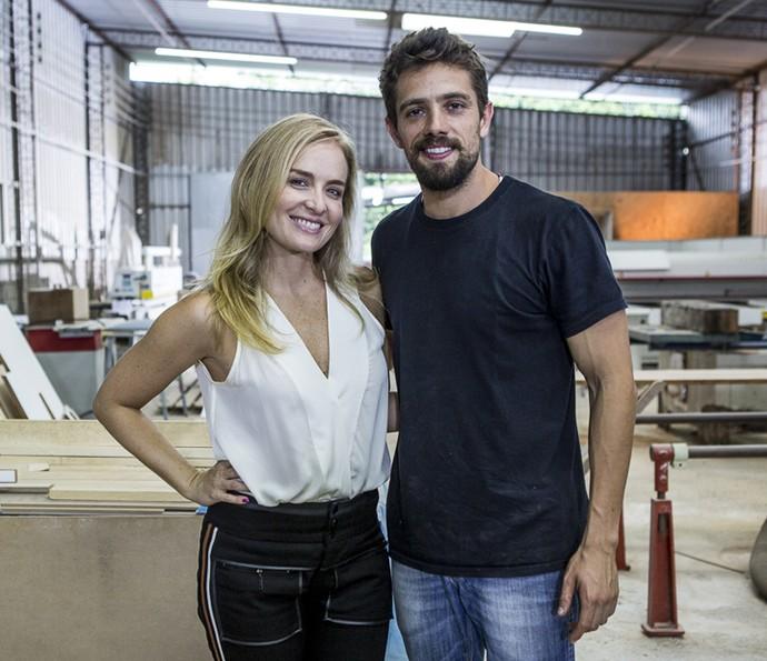 Angélica e Rafael Cardoso posam para a fotógrafa do Gshow (Foto: Ellen Soares / Gshow)