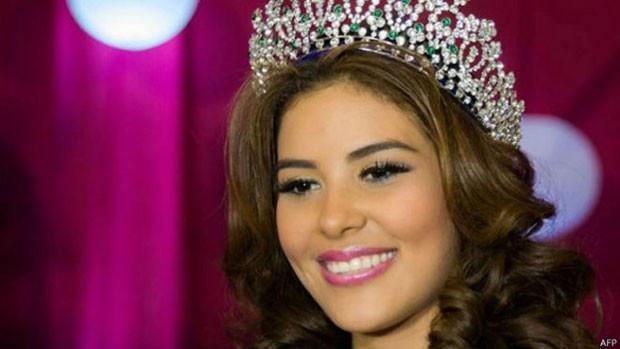 Miss hondurenha deveria participar de concurso Miss Mundo nesta semana na Grã-Bretanha  (Foto: AFP)