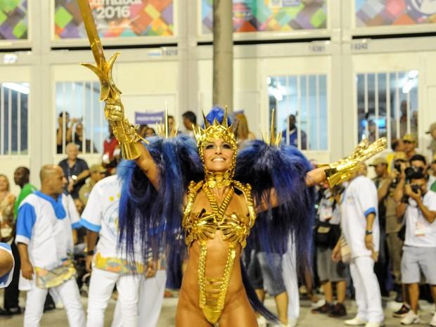 Sabrina Sato é a rainha de bateria da Unidos de Vila Isabel (Foto: Alexandre Durão/ G1)