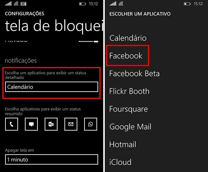 Facebook oferece a opção de exibir status detalhado com notificações na tela de bloqueio (Foto: Reprodução/Elson de Souza)