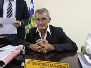 Vereador Antônio Aristides de Carvalho, presidente da Câmara de Esperantina (Foto: Kleber Oliveira/Revista AZ)