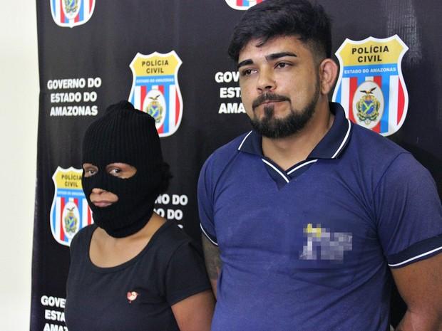 Casal foi preso na manhã desta terça-feria (12), em Manaus (Foto: Indiara Bessa/G1 AM)
