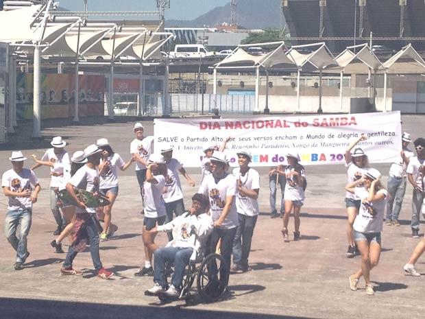 Flashmob que vai ocorrer no dia 2, na Central do Brasil, ao meio-dia (Foto: Alba Valéria Mendonça/ G1)